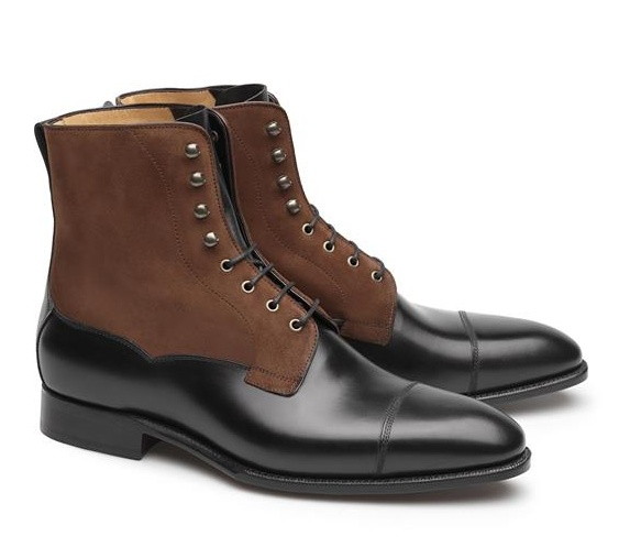 Lace-Up Boots - James 100 Noir- Camurça 180